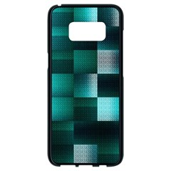 Background Squares Metal Green Samsung Galaxy S8 Black Seamless Case