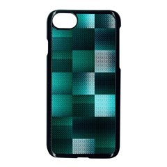Background Squares Metal Green Apple Iphone 8 Seamless Case (black)