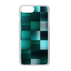 Background Squares Metal Green Apple Iphone 8 Plus Seamless Case (white) by Nexatart