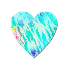 Blue Background Art Abstract Watercolor Heart Magnet