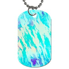 Blue Background Art Abstract Watercolor Dog Tag (one Side)