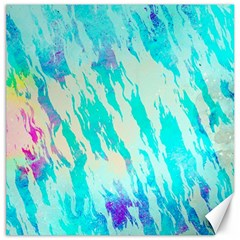 Blue Background Art Abstract Watercolor Canvas 12  X 12