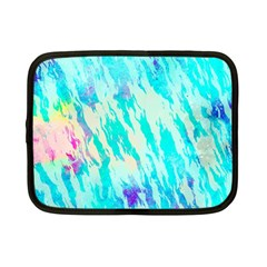 Blue Background Art Abstract Watercolor Netbook Case (small)  by Nexatart