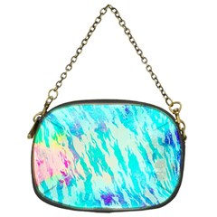 Blue Background Art Abstract Watercolor Chain Purses (one Side)