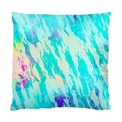 Blue Background Art Abstract Watercolor Standard Cushion Case (two Sides)