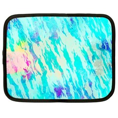 Blue Background Art Abstract Watercolor Netbook Case (xl)