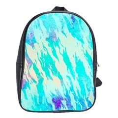 Blue Background Art Abstract Watercolor School Bag (large)