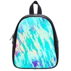 Blue Background Art Abstract Watercolor School Bag (small)