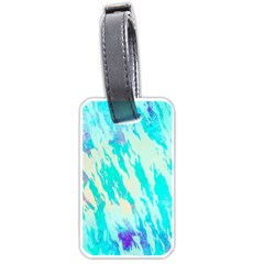 Blue Background Art Abstract Watercolor Luggage Tags (one Side)