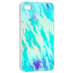 Blue Background Art Abstract Watercolor Apple Iphone 4/4s Seamless Case (white)