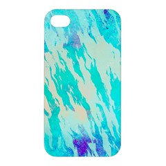 Blue Background Art Abstract Watercolor Apple Iphone 4/4s Premium Hardshell Case