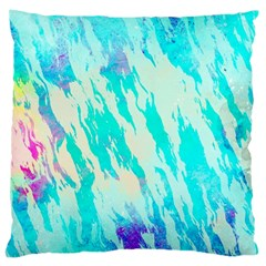 Blue Background Art Abstract Watercolor Large Cushion Case (two Sides)