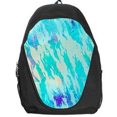 Blue Background Art Abstract Watercolor Backpack Bag