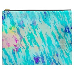 Blue Background Art Abstract Watercolor Cosmetic Bag (xxxl)