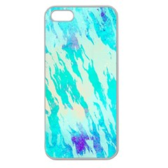 Blue Background Art Abstract Watercolor Apple Seamless Iphone 5 Case (clear)