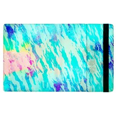 Blue Background Art Abstract Watercolor Apple Ipad 2 Flip Case by Nexatart