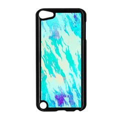 Blue Background Art Abstract Watercolor Apple Ipod Touch 5 Case (black)