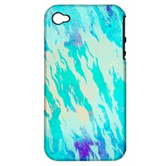 Blue Background Art Abstract Watercolor Apple Iphone 4/4s Hardshell Case (pc+silicone)