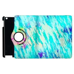 Blue Background Art Abstract Watercolor Apple Ipad 2 Flip 360 Case