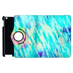 Blue Background Art Abstract Watercolor Apple Ipad 3/4 Flip 360 Case by Nexatart