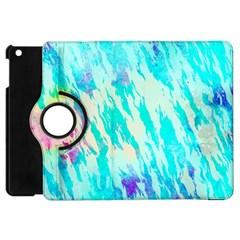Blue Background Art Abstract Watercolor Apple Ipad Mini Flip 360 Case