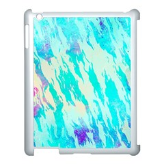 Blue Background Art Abstract Watercolor Apple Ipad 3/4 Case (white)