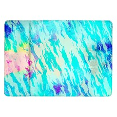 Blue Background Art Abstract Watercolor Samsung Galaxy Tab 10 1  P7500 Flip Case
