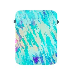 Blue Background Art Abstract Watercolor Apple Ipad 2/3/4 Protective Soft Cases