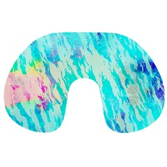 Blue Background Art Abstract Watercolor Travel Neck Pillows