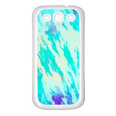 Blue Background Art Abstract Watercolor Samsung Galaxy S3 Back Case (white)