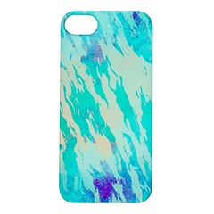 Blue Background Art Abstract Watercolor Apple Iphone 5s/ Se Hardshell Case