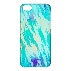 Blue Background Art Abstract Watercolor Apple Iphone 5c Hardshell Case