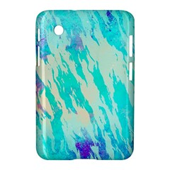 Blue Background Art Abstract Watercolor Samsung Galaxy Tab 2 (7 ) P3100 Hardshell Case  by Nexatart