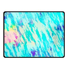 Blue Background Art Abstract Watercolor Double Sided Fleece Blanket (small)