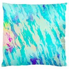 Blue Background Art Abstract Watercolor Standard Flano Cushion Case (one Side)