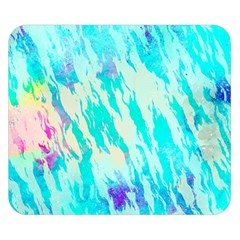 Blue Background Art Abstract Watercolor Double Sided Flano Blanket (small)  by Nexatart