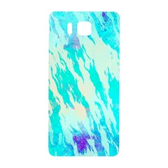 Blue Background Art Abstract Watercolor Samsung Galaxy Alpha Hardshell Back Case