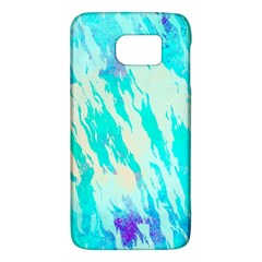 Blue Background Art Abstract Watercolor Galaxy S6