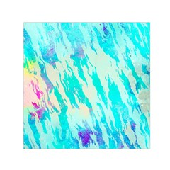 Blue Background Art Abstract Watercolor Small Satin Scarf (square)