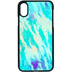Blue Background Art Abstract Watercolor Apple Iphone X Seamless Case (black)