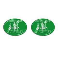 St  Patricks Day  Cufflinks (oval) by Valentinaart