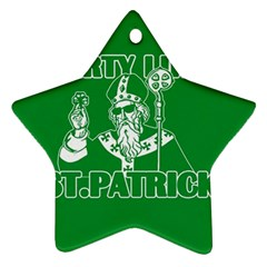 St  Patricks Day  Ornament (star) by Valentinaart