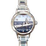 USS Virginia Pic Round Italian Charm Watch