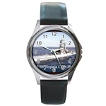 USS Virginia Pic Round Metal Watch