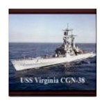 USS Virginia Pic Tile Coaster