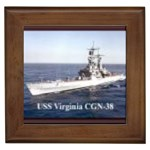 USS Virginia Pic Framed Tile