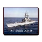 USS Virginia Pic Small Mousepad