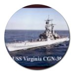 USS Virginia Pic Round Mousepad