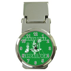 St  Patricks Day  Money Clip Watches by Valentinaart
