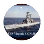USS Virginia Pic Ornament (Round)